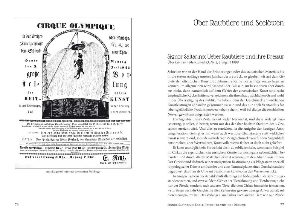 Über Zirkuskunst Edition Schwarzdruck.