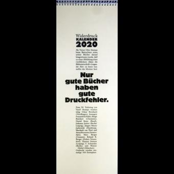 Widerdruck-Kalender für 2020