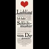 Lieblings-Schriftmuster-Blatt